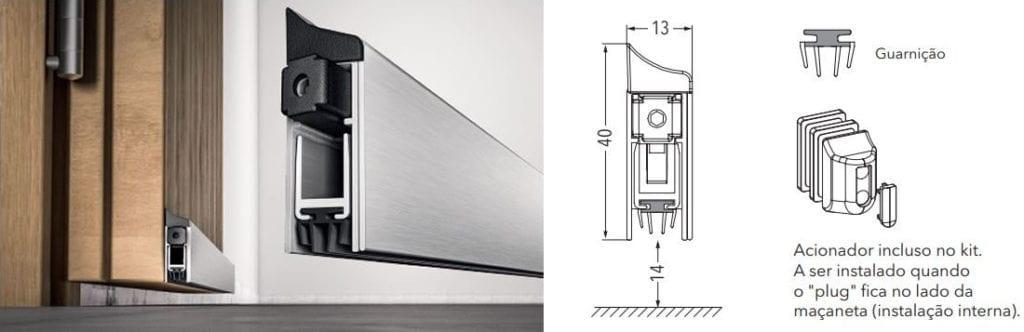 O Veda Porta Automático pode ser usado em portas de madeira, alumínio, ferro e pvc.